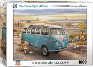The Love & Hope VW Bus 1000 piece jigsaw puzzle   680mm x 490mm    (pz)